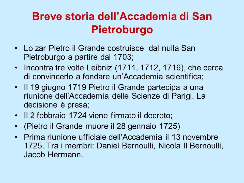 Breve storia dell'Accademia di San Pietroburgo