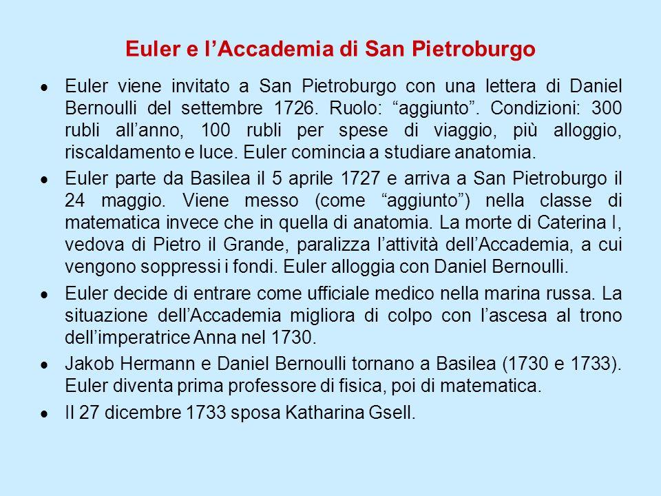 Euler e l'Accademia di San Pietroburgo