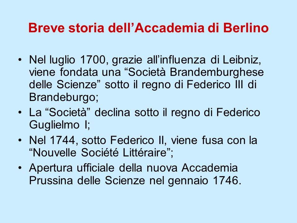 Breve storia dell'Accademia di Berlino
