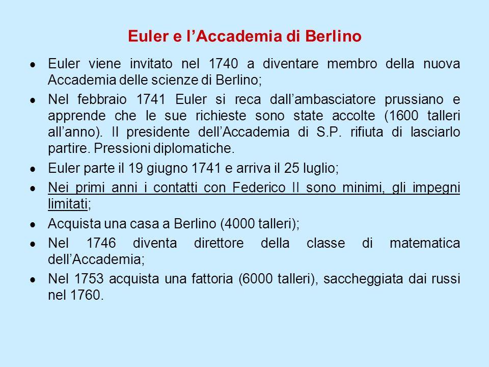 Euler e l'Accademia di Berlino