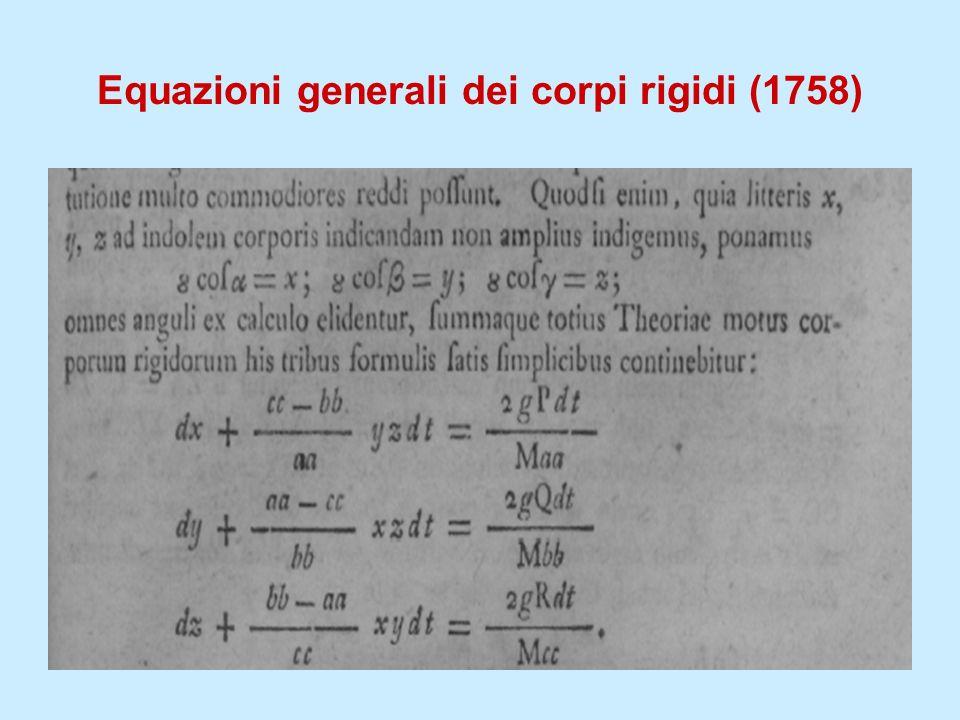 Equazioni generali dei corpi rigidi (1758)