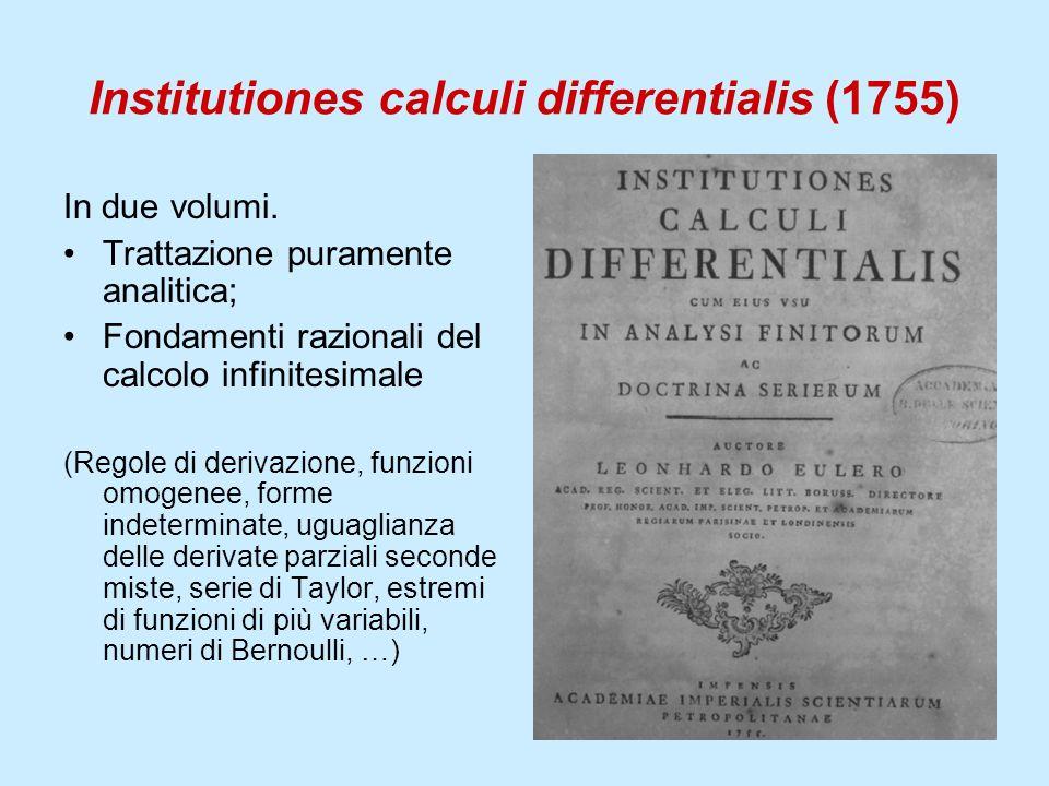 Institutiones calculi differentialis (1755)
