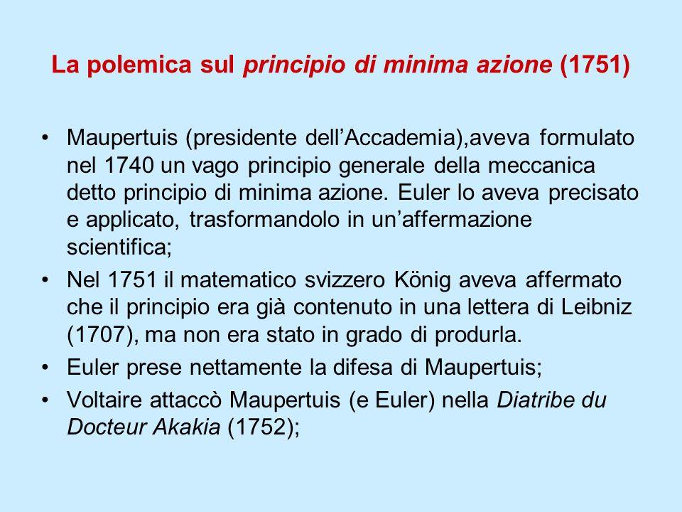 La polemica sul principio di minima azione (1751)