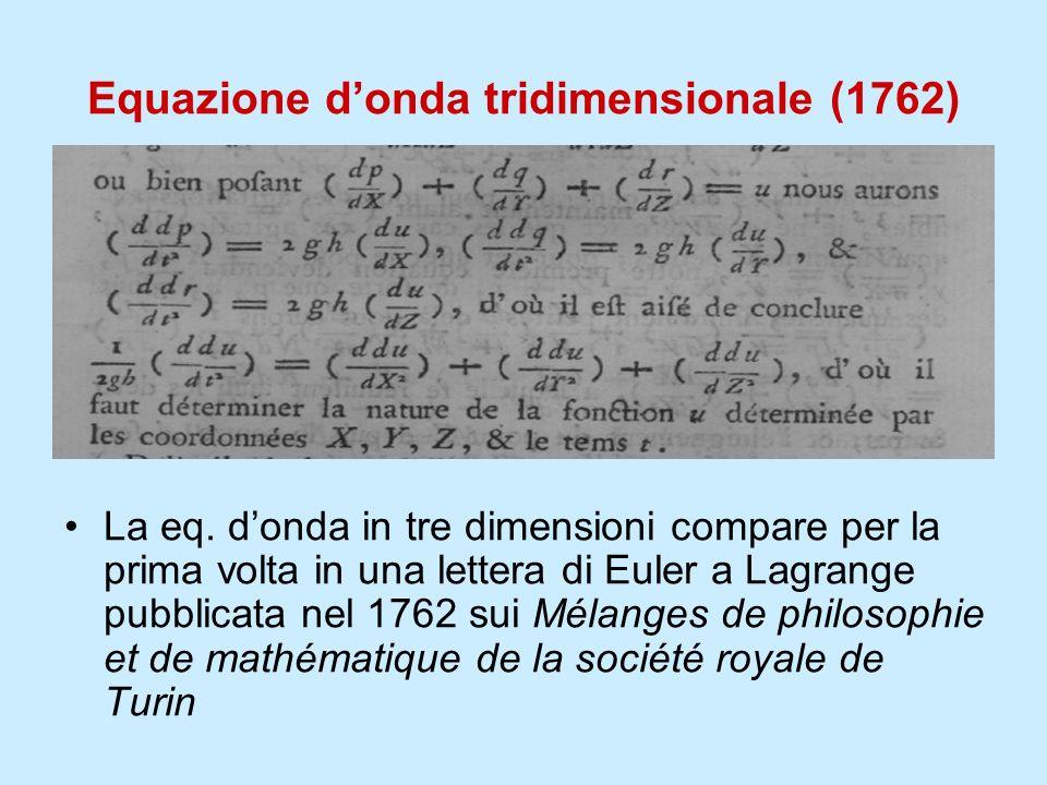 Equazione d'onda tridimensionale (1762)