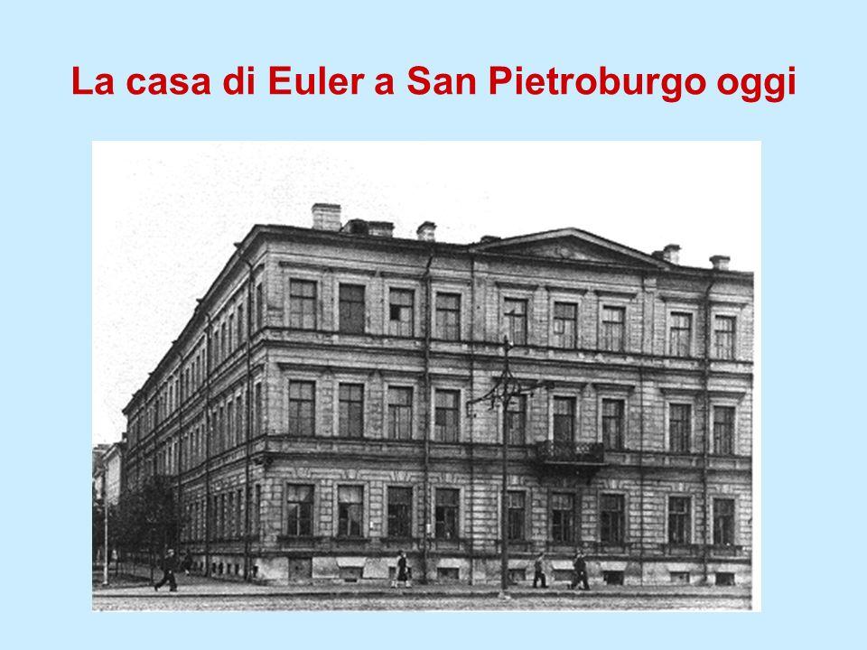 La casa di Euler a San Pietroburgo oggi
