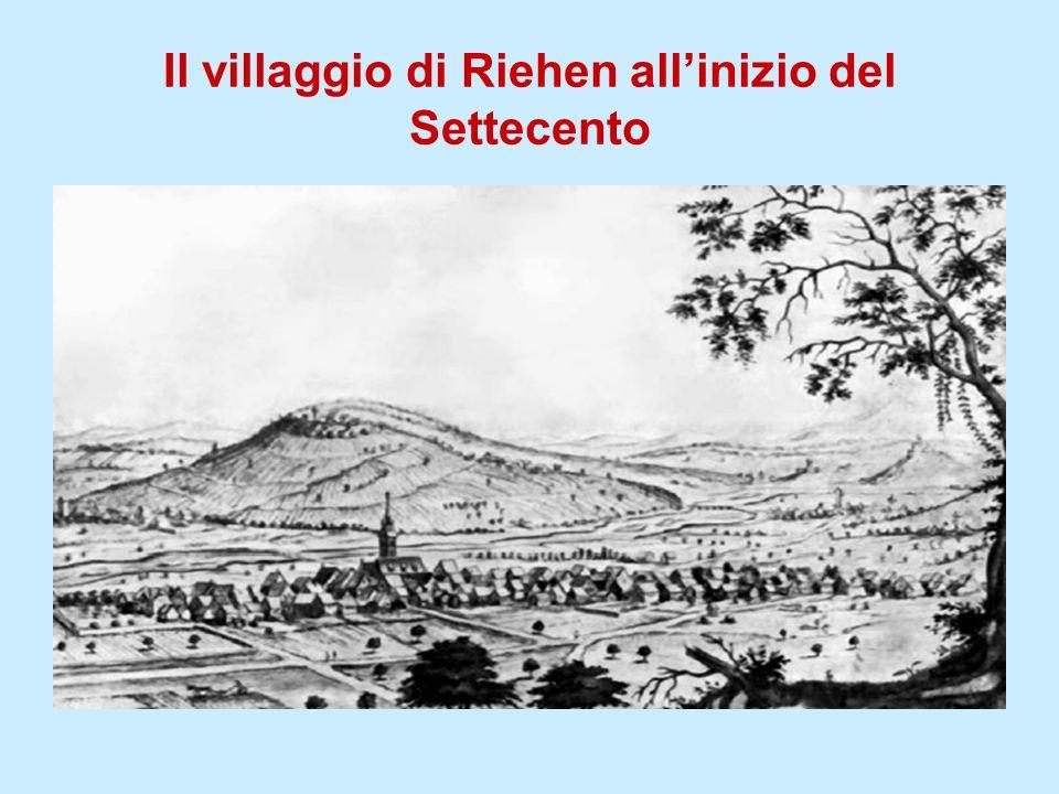 Il villaggio di Riehen all'inizio del Settecento