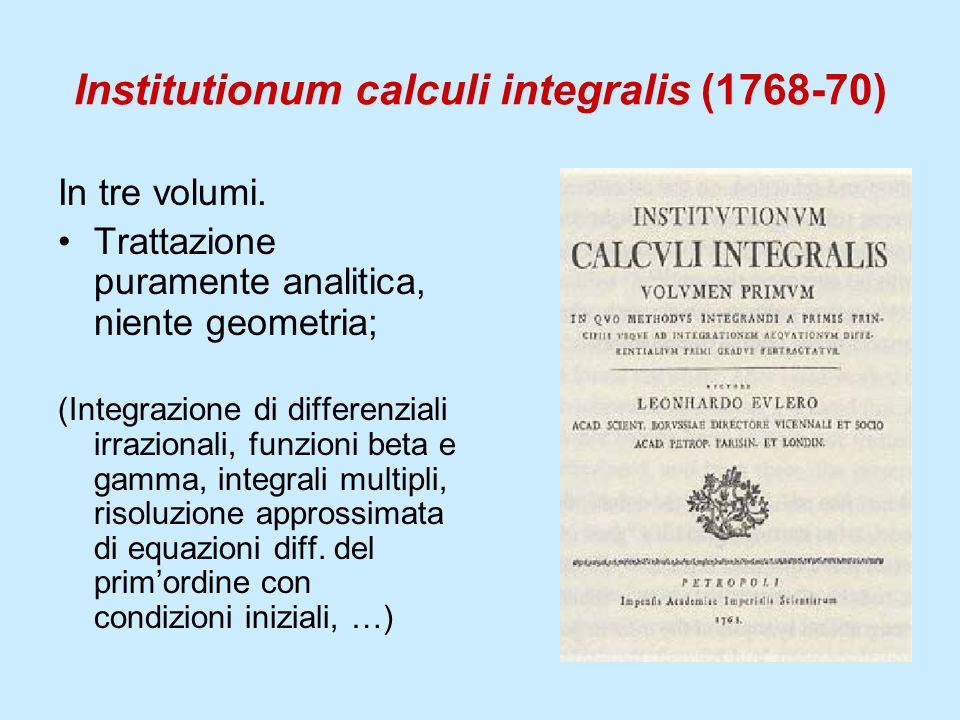 Institutionum calculi integralis (1768-70)