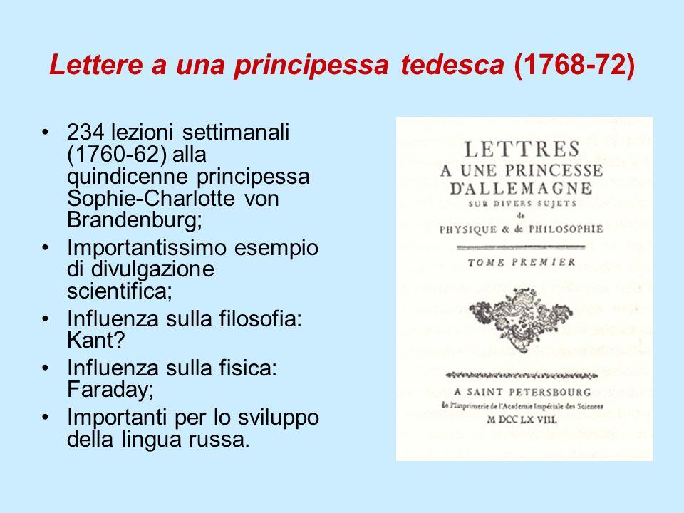 Lettere a una principessa tedesca (1768-72)