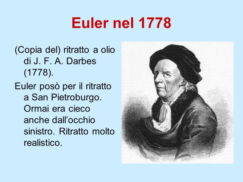 Euler nel 1778 (Copia del) ritratto a olio di J. F. A. Darbes (1778).