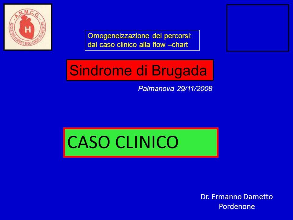 CASO CLINICO Sindrome di Brugada Dr. Ermanno Dametto Pordenone