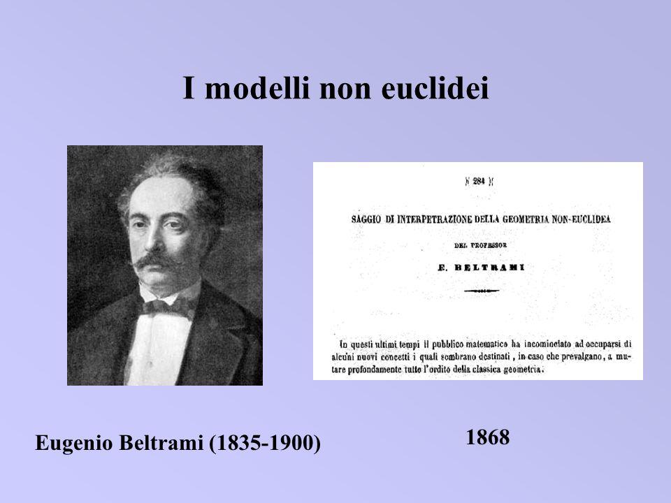 I modelli non euclidei Eugenio Beltrami (1835-1900) 1868