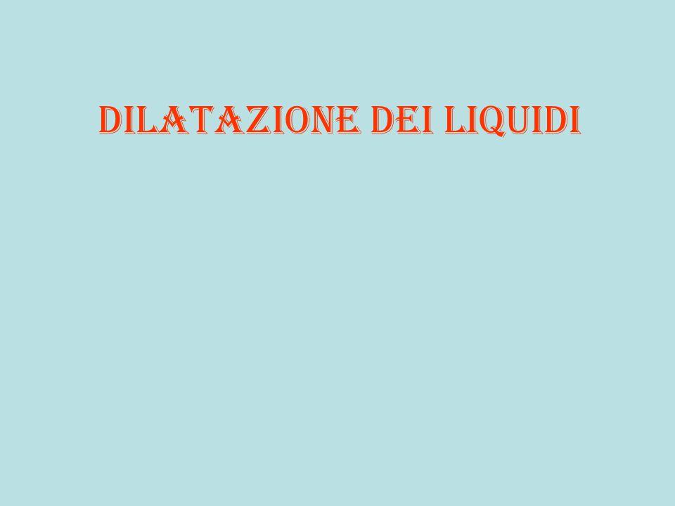 Dilatazione dei liquidi