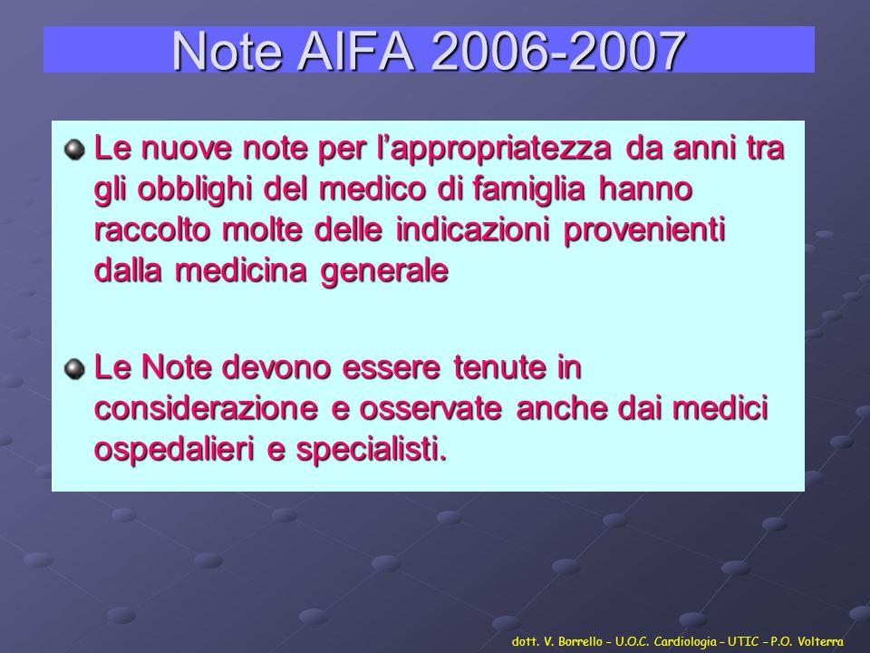 Note AIFA 2006-2007
