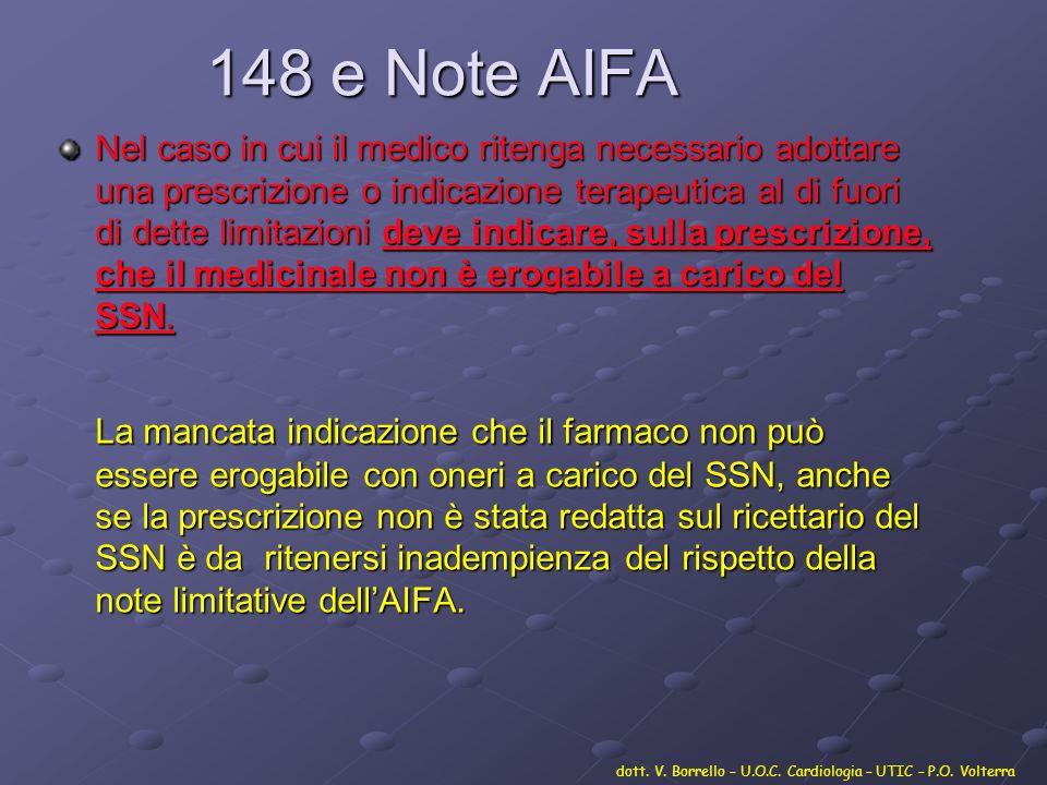 148 e Note AIFA