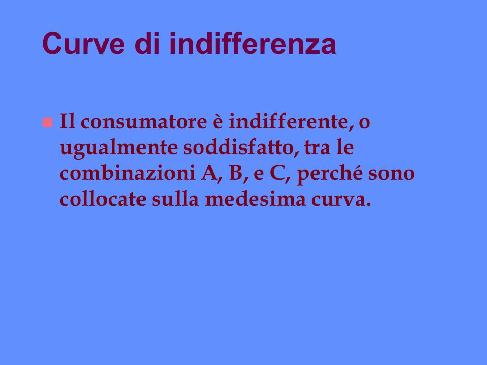 Curve di indifferenza