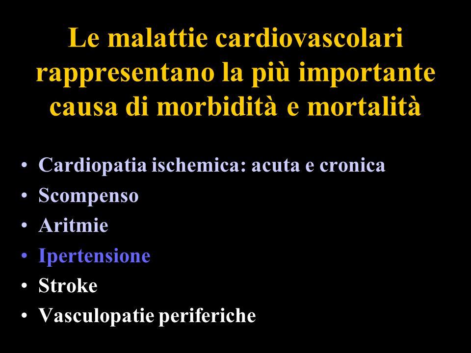 Le malattie cardiovascolari rappresentano la più importante causa di morbidità e mortalità