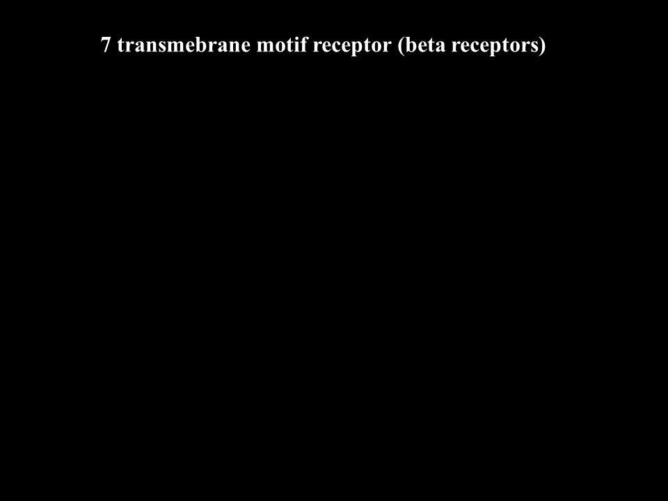 7 transmebrane motif receptor (beta receptors)