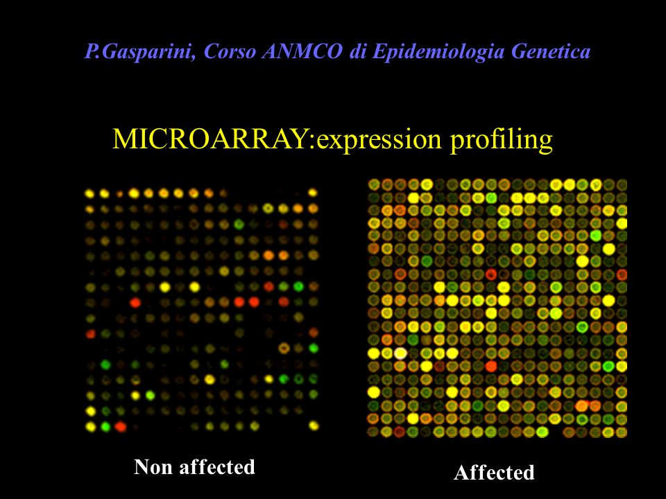 MICROARRAY:expression profiling