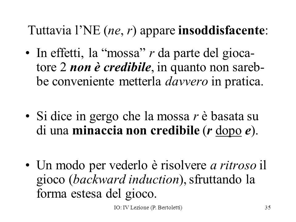 Tuttavia l'NE (ne, r) appare insoddisfacente: