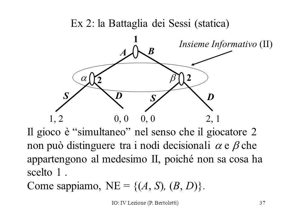 Ex 2: la Battaglia dei Sessi (statica)