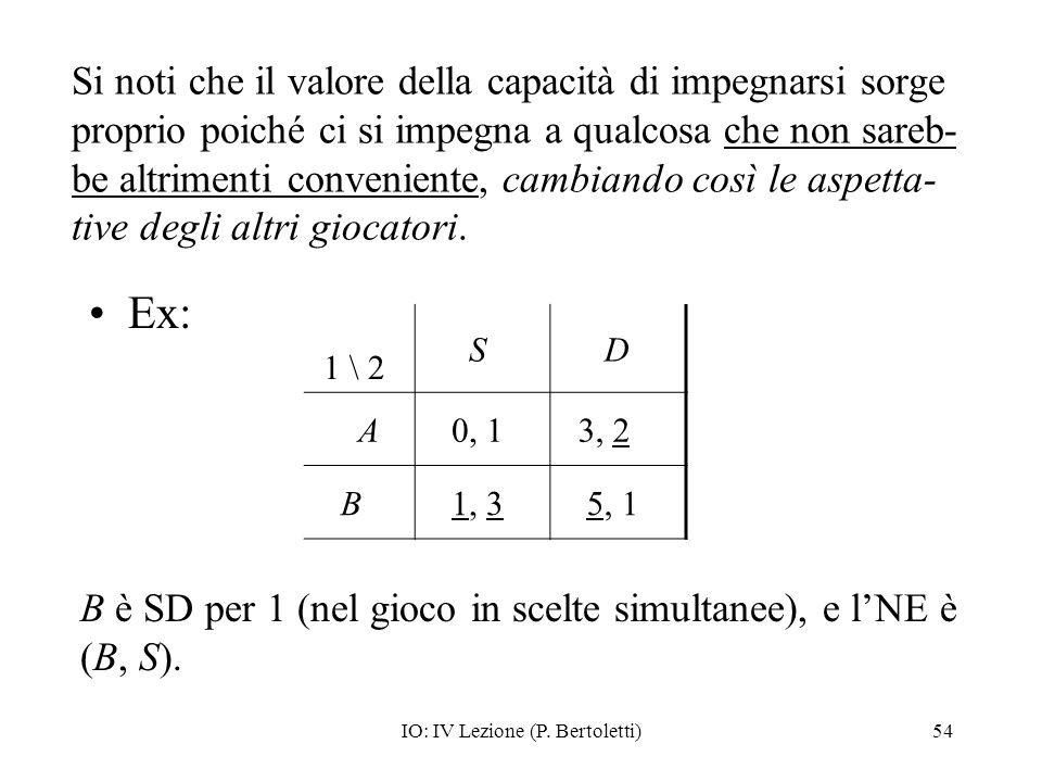 IO: IV Lezione (P. Bertoletti)