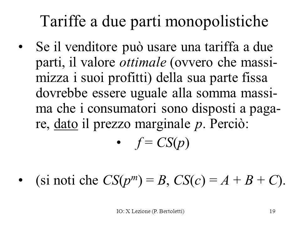 Tariffe a due parti monopolistiche