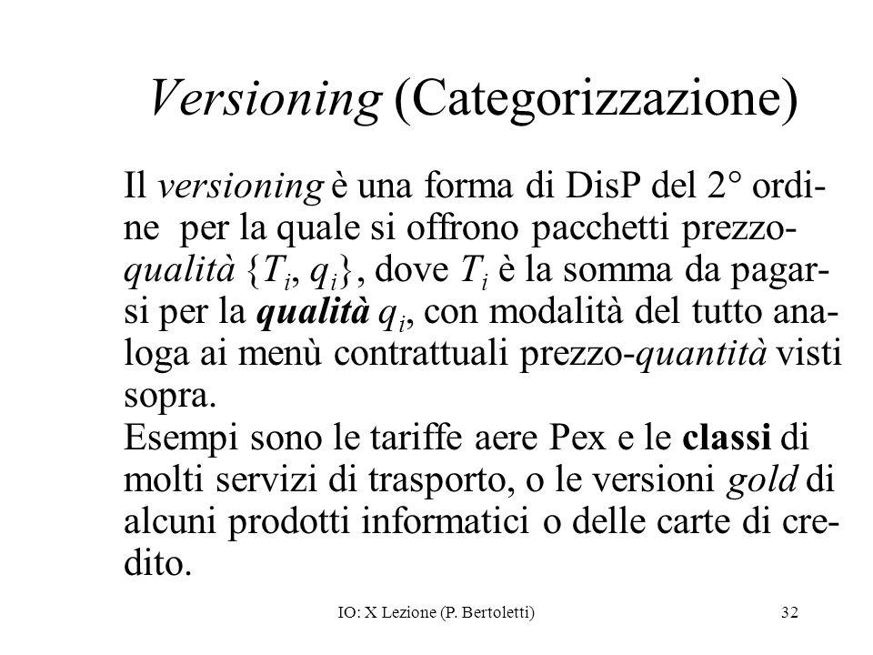 Versioning (Categorizzazione)