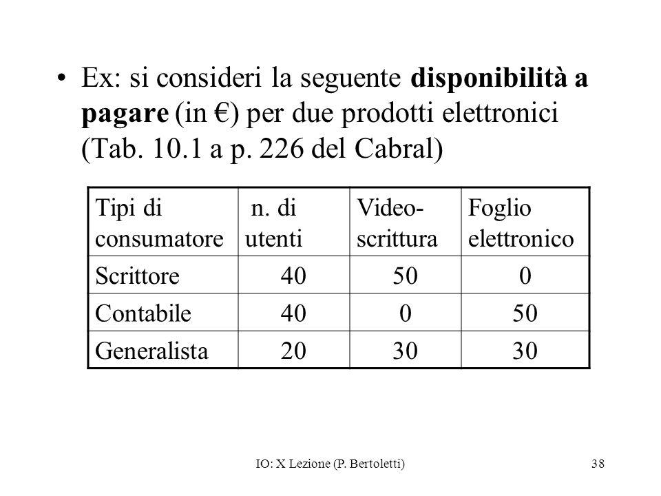 IO: X Lezione (P. Bertoletti)