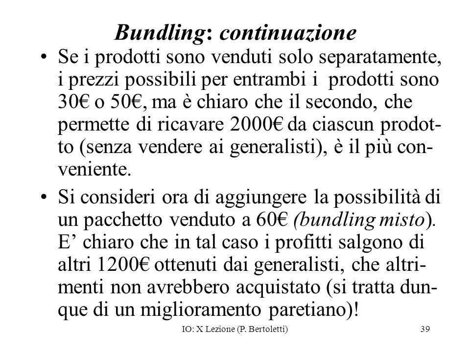 Bundling: continuazione