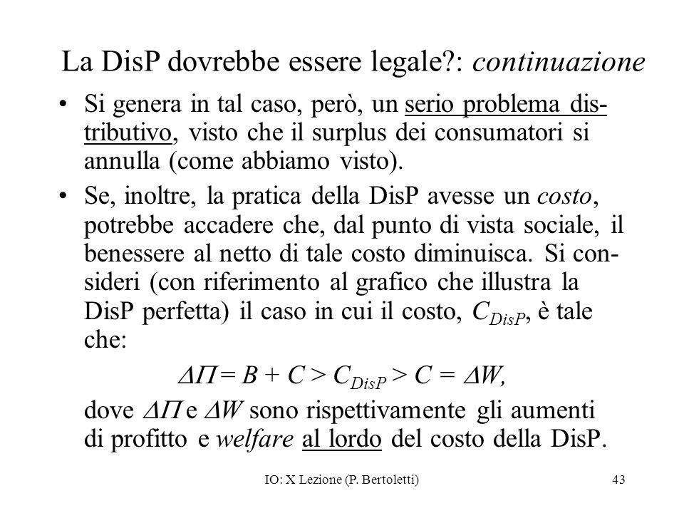 La DisP dovrebbe essere legale : continuazione