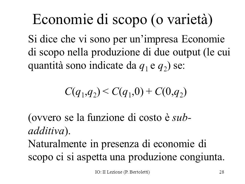 Economie di scopo (o varietà)