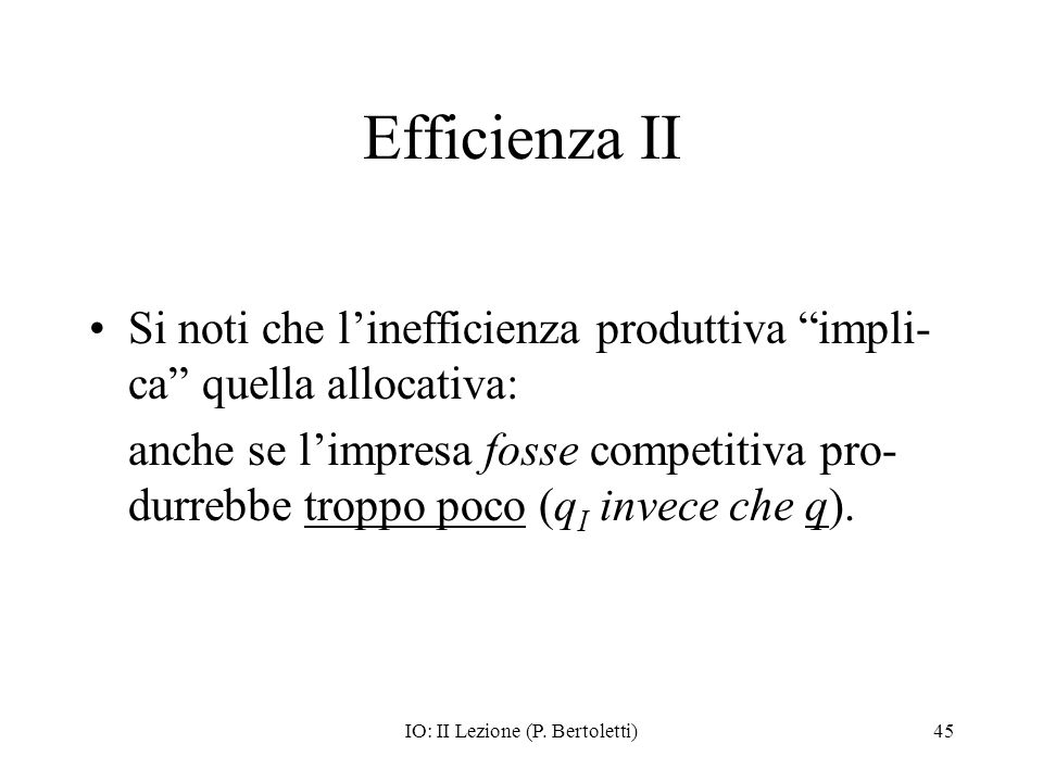 IO: II Lezione (P. Bertoletti)