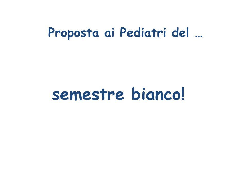 Proposta ai Pediatri del …