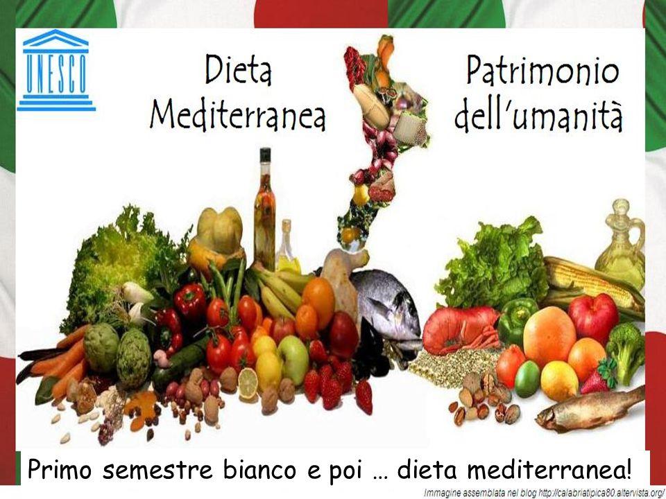 Primo semestre bianco e poi … dieta mediterranea!