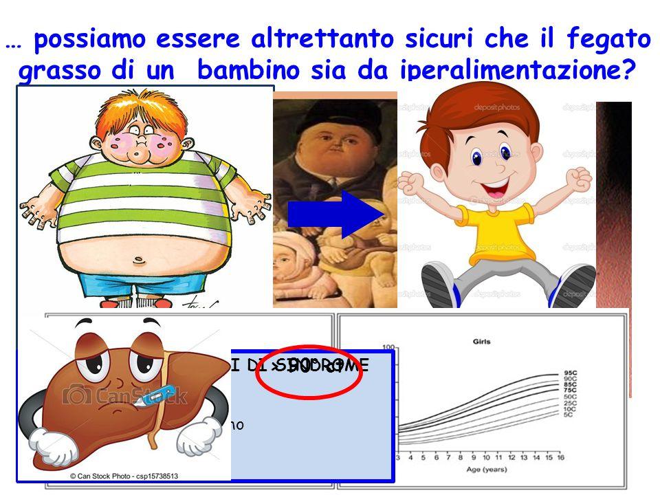 … possiamo essere altrettanto sicuri che il fegato grasso di un bambino sia da iperalimentazione