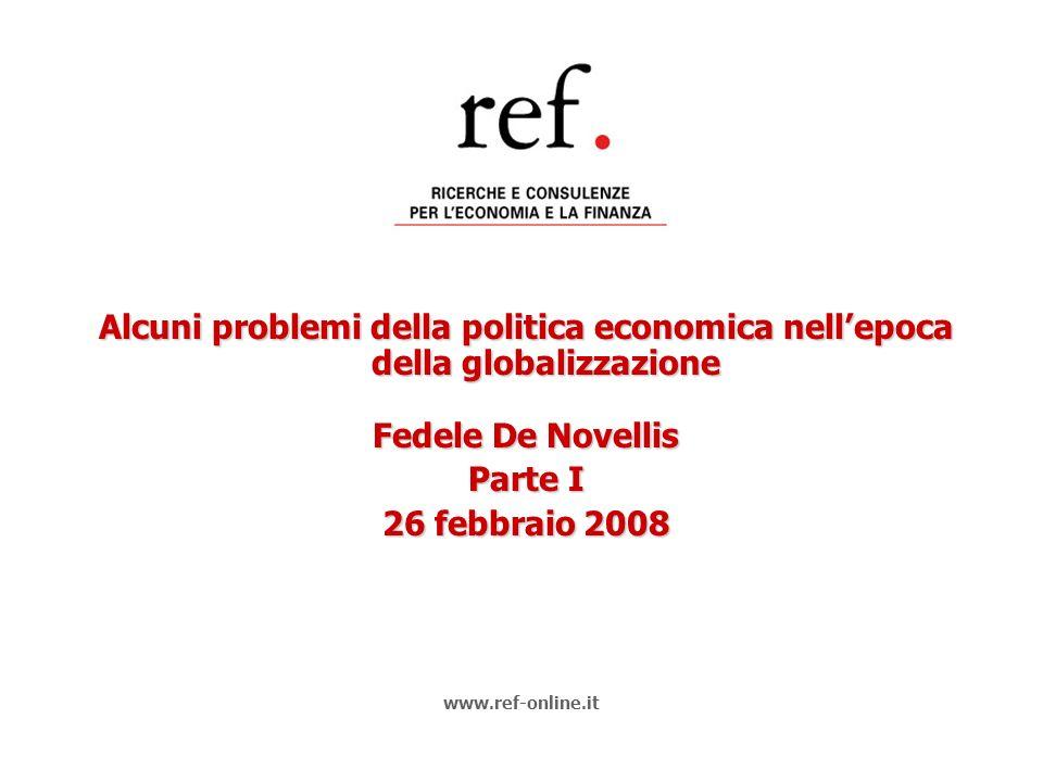 Alcuni problemi della politica economica nell'epoca della globalizzazione