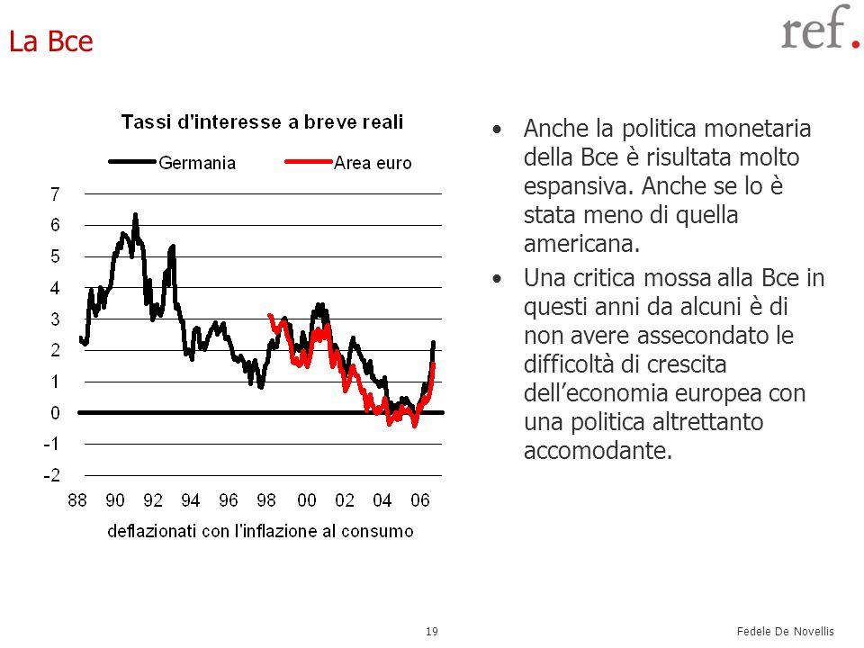 La BceAnche la politica monetaria della Bce è risultata molto espansiva. Anche se lo è stata meno di quella americana.