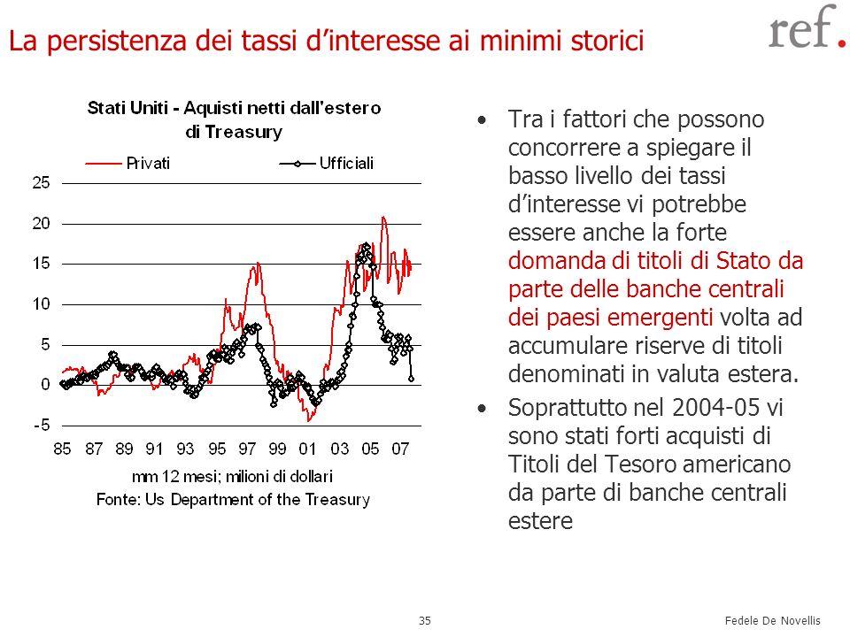 La persistenza dei tassi d'interesse ai minimi storici