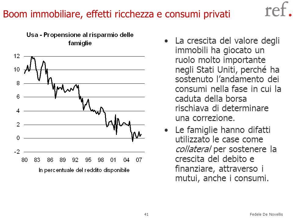 Boom immobiliare, effetti ricchezza e consumi privati