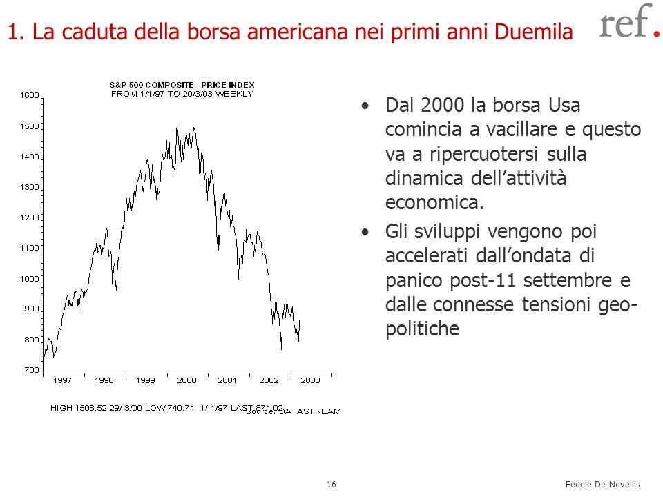1. La caduta della borsa americana nei primi anni Duemila