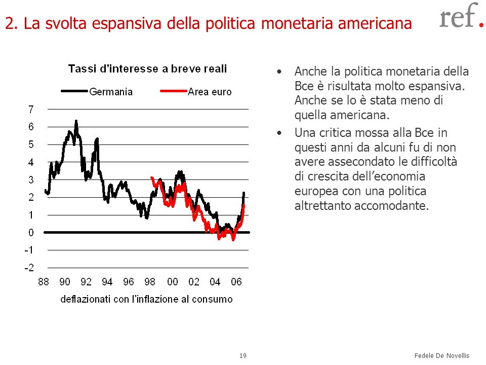 2. La svolta espansiva della politica monetaria americana