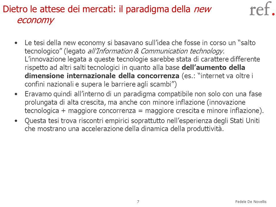 Dietro le attese dei mercati: il paradigma della new economy