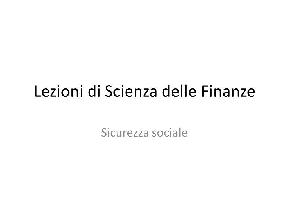 Lezioni di Scienza delle Finanze