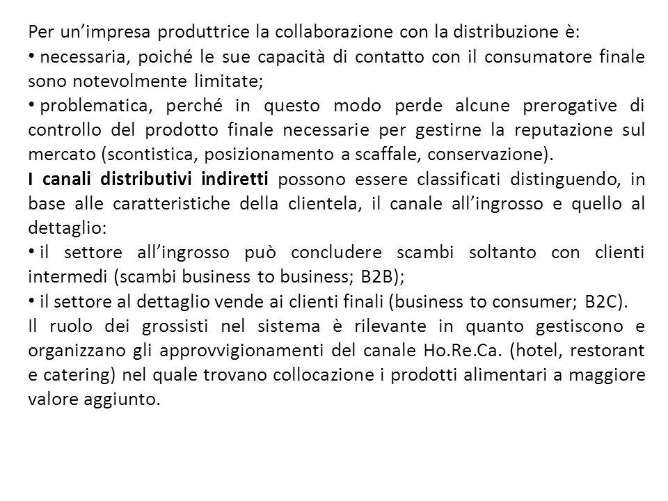 Per un'impresa produttrice la collaborazione con la distribuzione è: