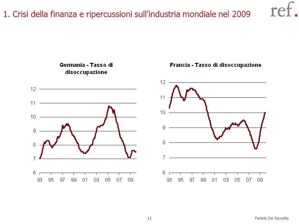 1. Crisi della finanza e ripercussioni sull'industria mondiale nel 2009