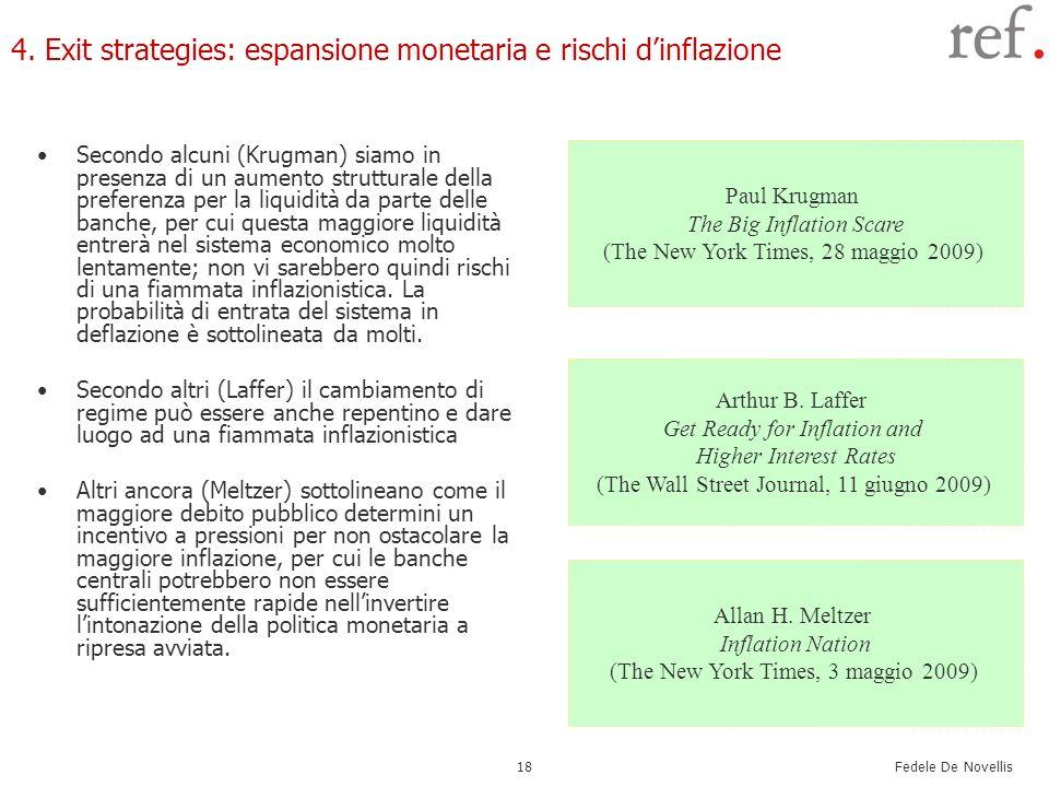 4. Exit strategies: espansione monetaria e rischi d'inflazione