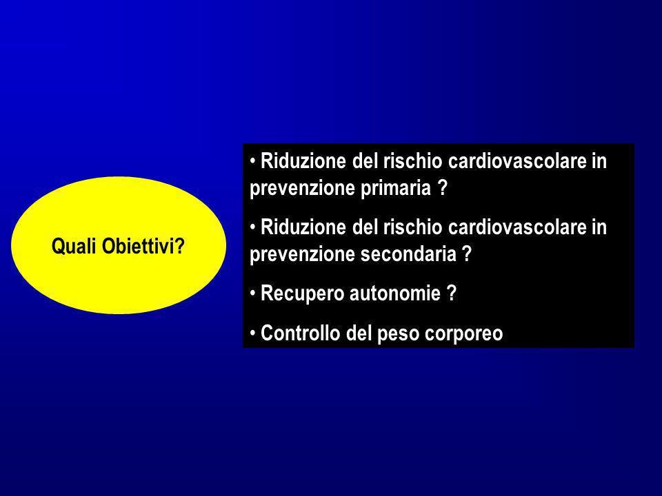 Riduzione del rischio cardiovascolare in prevenzione primaria