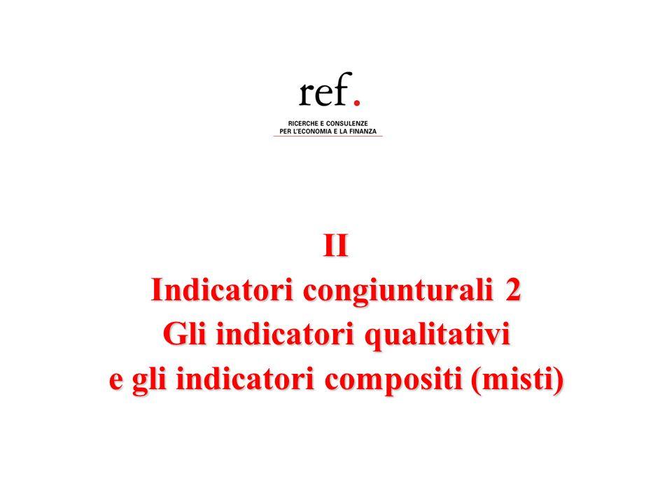 Indicatori congiunturali 2 Gli indicatori qualitativi
