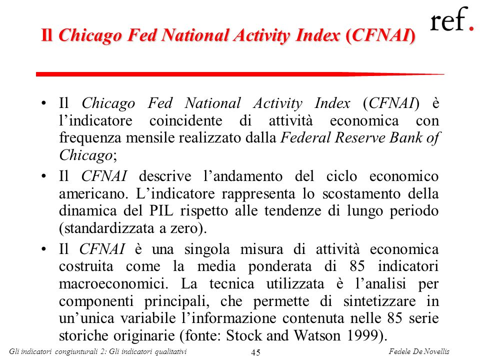 Il Chicago Fed National Activity Index (CFNAI)
