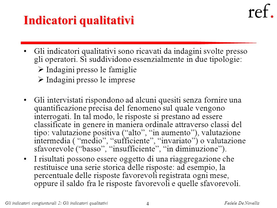 Indicatori qualitativi